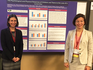 Two presenters with their poster at 2016 AACAP Meeting