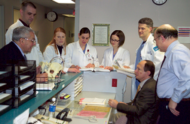 doctors and residents at nurse station