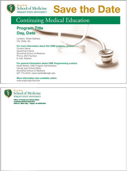 continuing medical education save the date card image