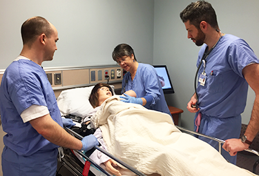 students with a high fidelity human patient simulator