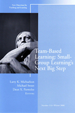 Team-Based Learning™: Small-Group Learning's Next Big Step book cover