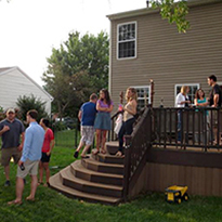 friends and family at barbecue
