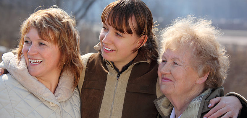 mother, daughter and grandmother