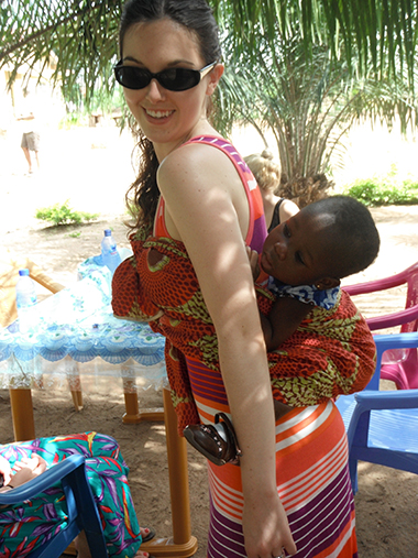 young woman with baby in Ghana