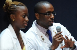 medical students speaking