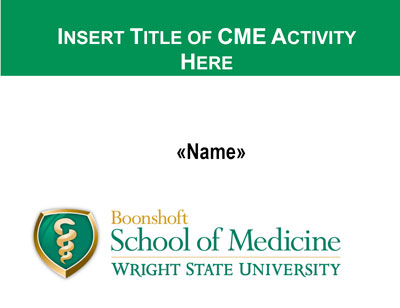 continuing medical education name tag image