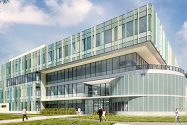 rendering of the new neuroscience building
