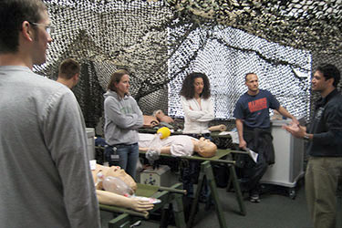 students in a first aid/basic life support class