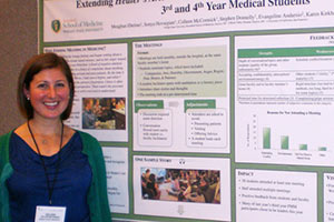 Student Colleen McCormick with her poster