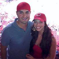couple at Cincinnati Reds game