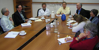 photo of WSU faculty and student team members with staff at the Western Galilee Hospital, Israel