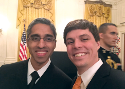William Elder and Surgeon General Vivek Murthy