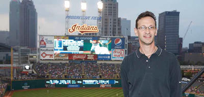 photo of Ronald Golovan at Progressive Field in Indiana