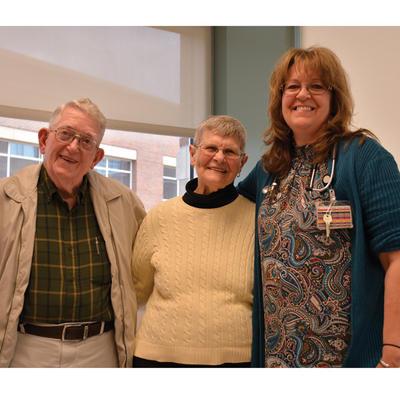 Karen Kirkham with patients