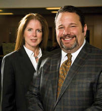 Photo of Dominic Bagnoli, M.D.(right), and Vivian von Gruenigen, M.D.