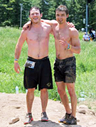 Zac and Rufus on the warrior run